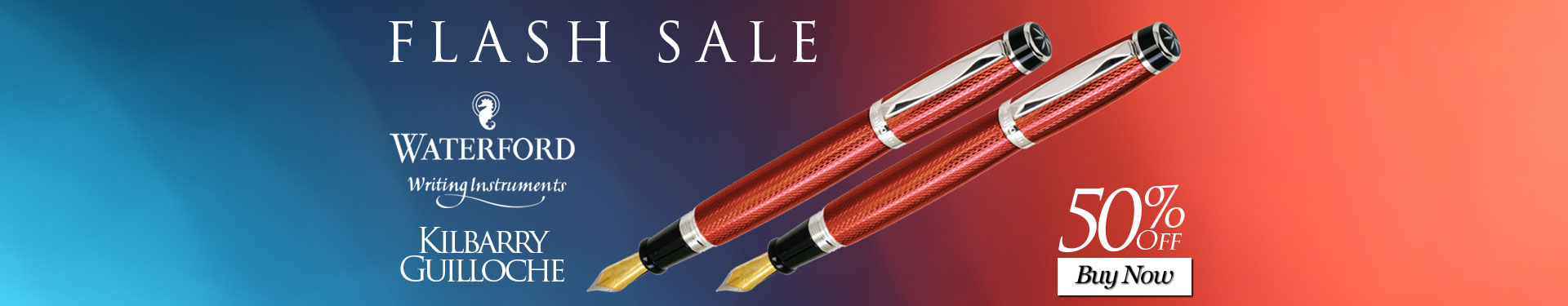 Flash Sale - Save 50% on the Waterford Kilbarry Guilloche Fountain Pen
