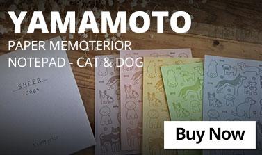 Yamamoto Paper Memoterior Notepad - Cat and Dog