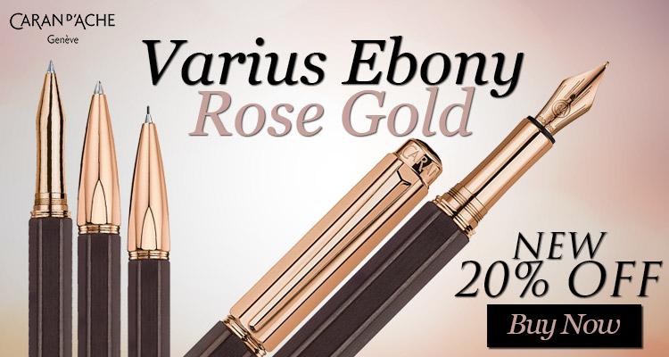 Caran D'ache Varius Ebony Rose Gold