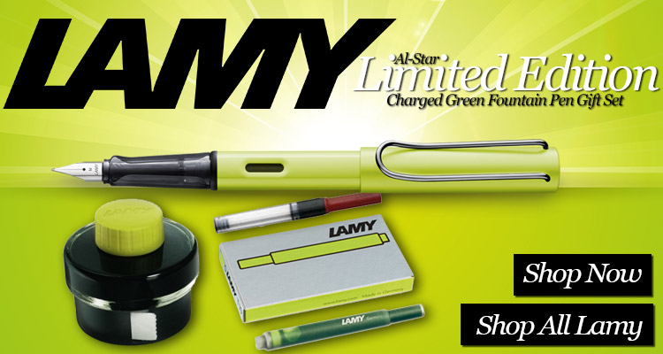 Lamy Al-Star Limited Edition Charged Green Fountain Pen Gift Set
