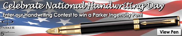 Fahrney's Pens National Handwriting Day Contest